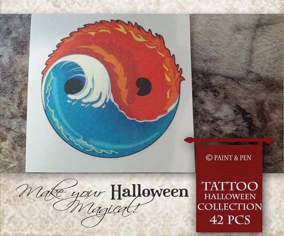 Yin Yang Tattoo Pack Great For Kids Or Adults Temporary But Can