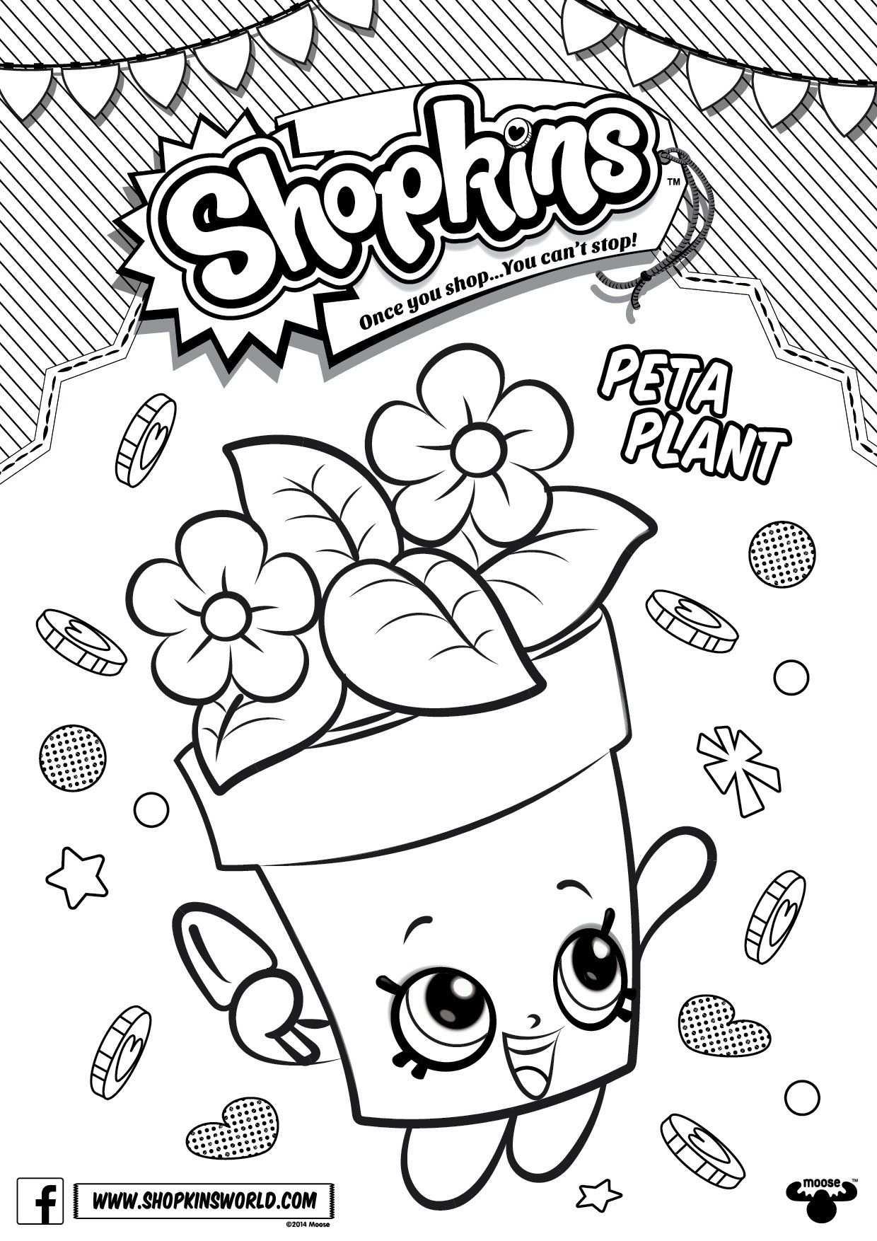Shopkins Coloring Pages Season 4 Peta Plant Kleurplaten
