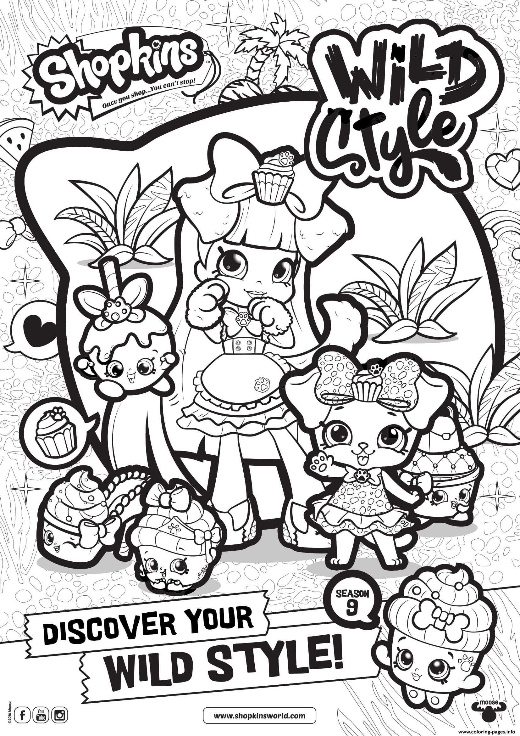 Print Shopkins Season 9 Wild Style 8 Coloring Pages Met