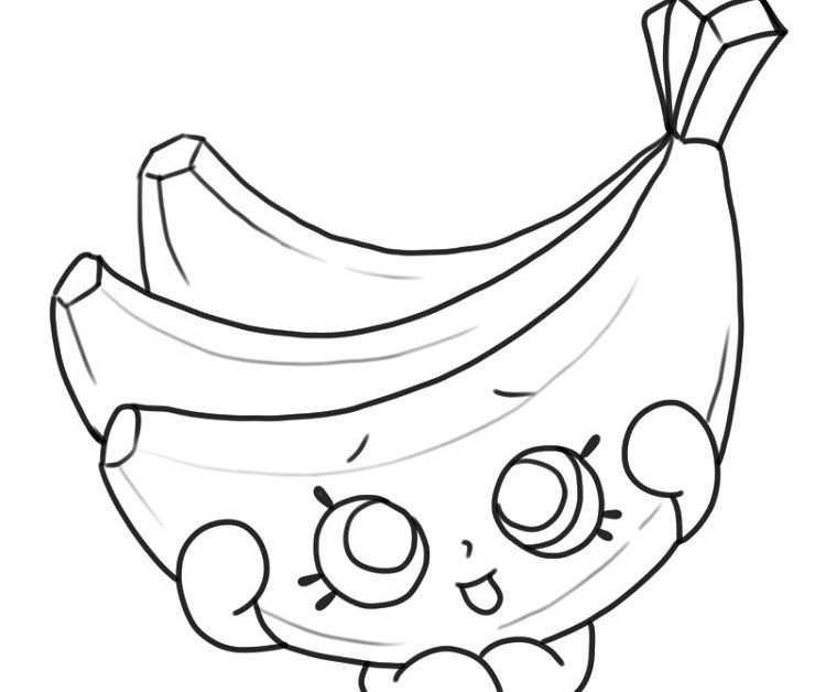 Shopkins Banana Coloring Pages