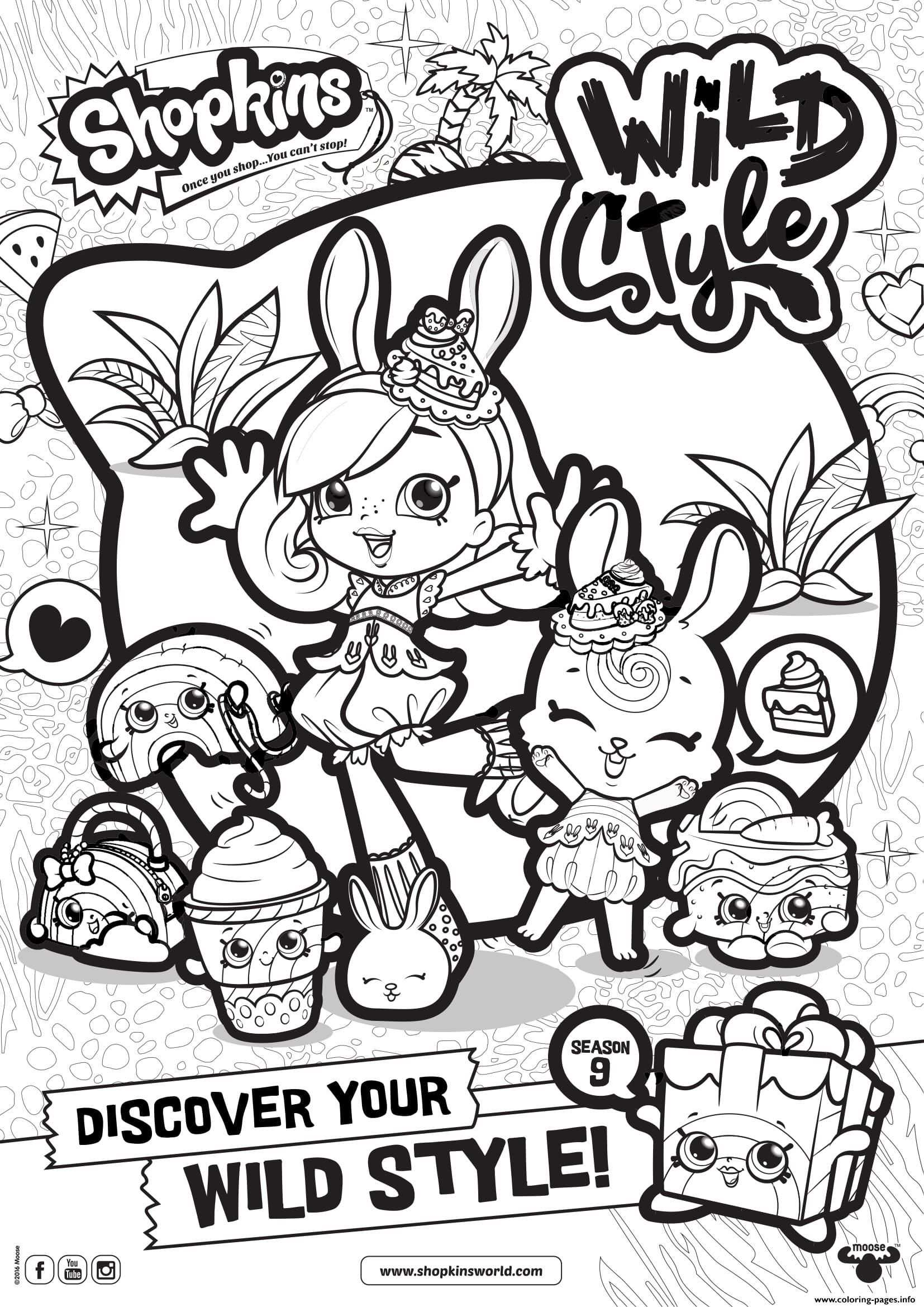 Print Shopkins Season 9 Wild Style 6 Coloring Pages Shopkin