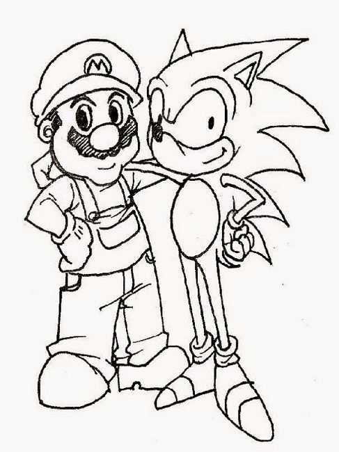 Mario Sonic Coloring Pages Print Com Imagens Desenhos Para Pintar