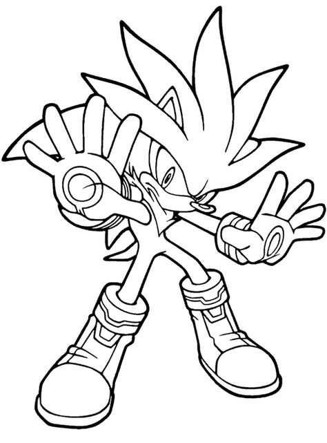 Kleurplaat Super Golden Sonic Transformatie Van Sonic Met