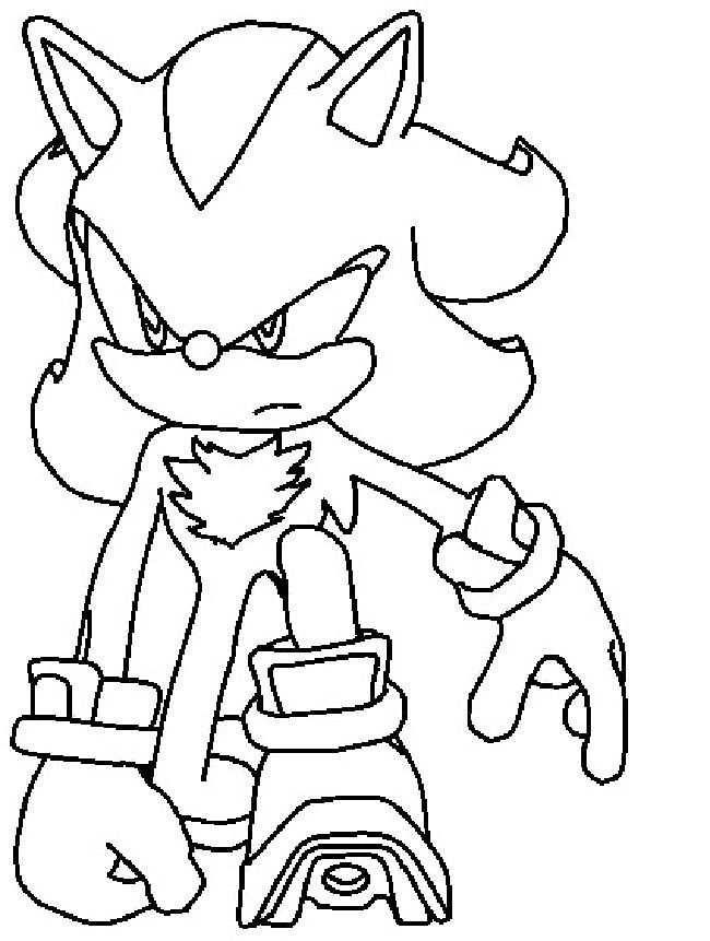 Shadow The Hedgehog Coloring Pages Coloring Pages