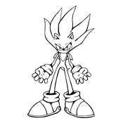 Kleurplaat Sonic Sega 1330