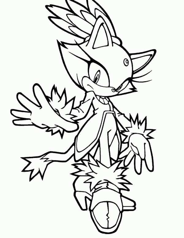 Kleurplaat Sonic 12