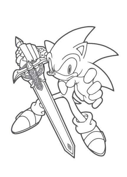 Znalezione Obrazy Dla Zapytania Kolorowanki Sonic Do Wydruku