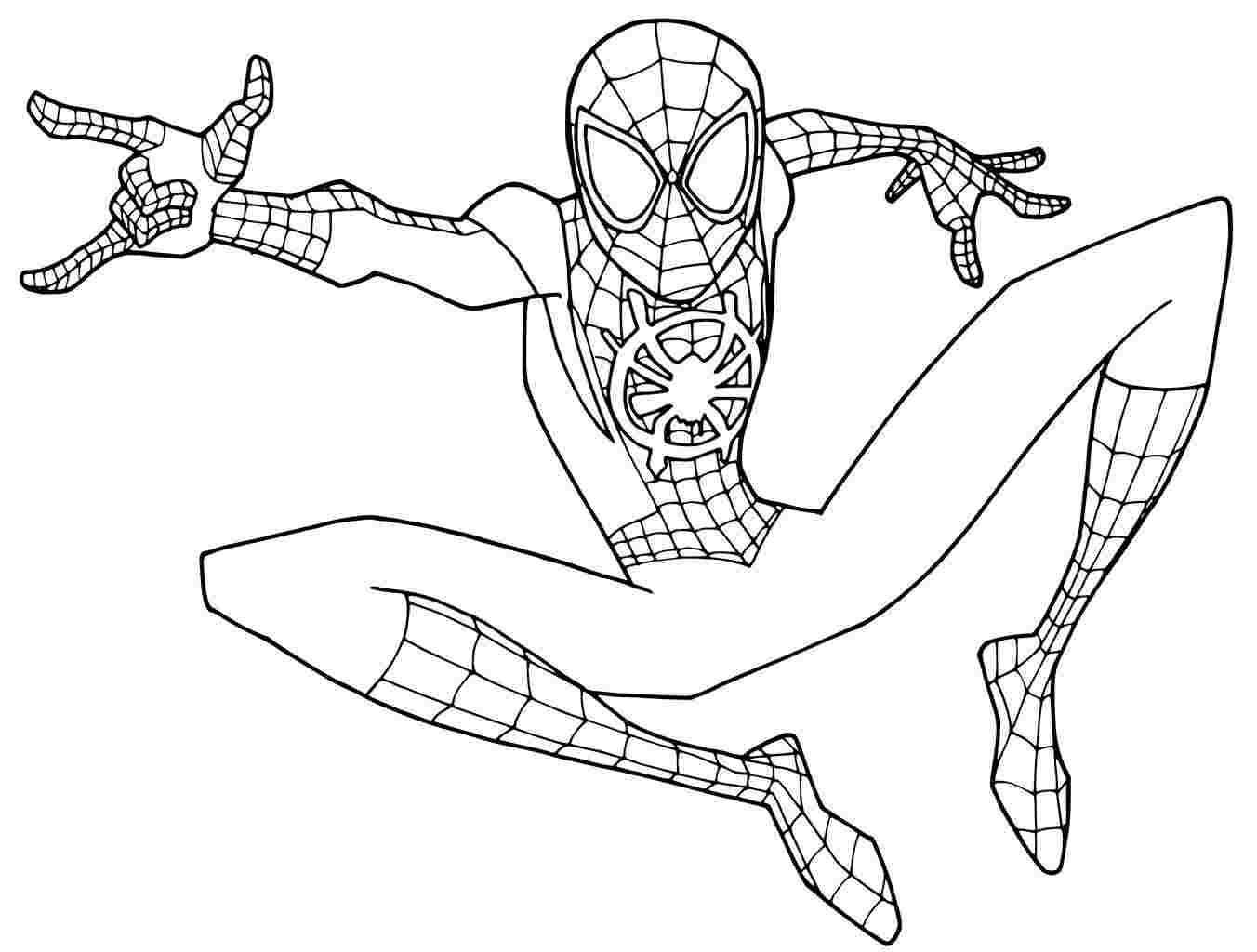 Coloring Pages Spider Verse Coloringpages Coloringpageschristmas