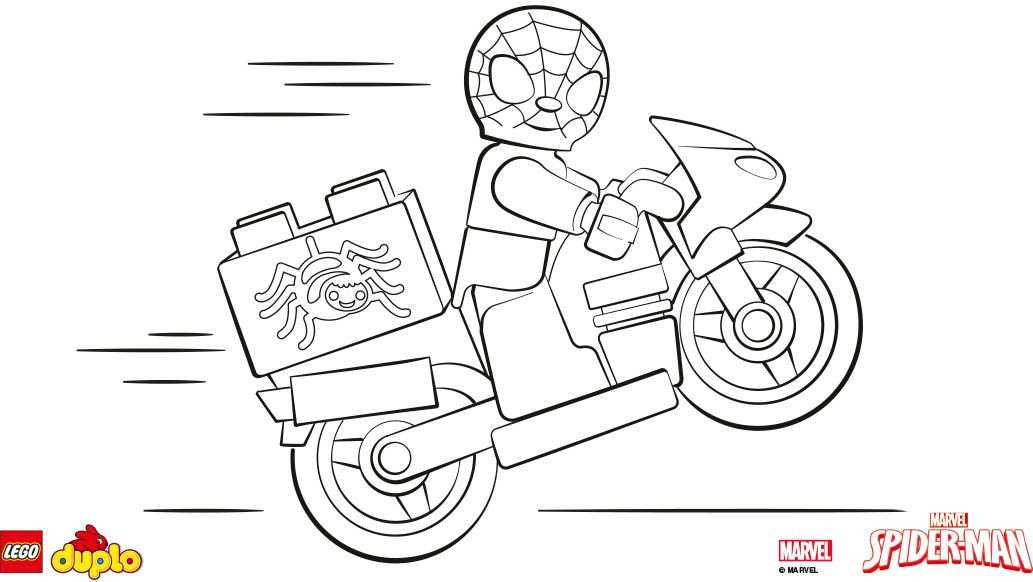 Lego Duplo Spider Man Kleurplaat Kleurplaten Lego Kleurplaten