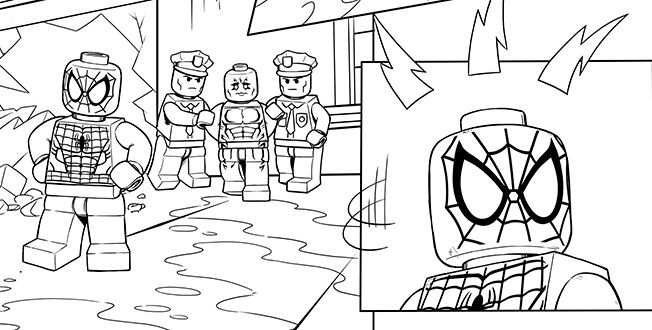 Lego Spider Man 4 Coloring Sheet Avengers Coloring Pages
