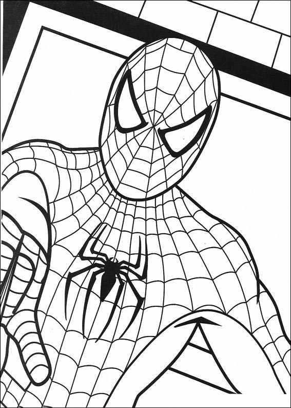 Spiderman 012 Coloring Page With Images Spiderman Coloring