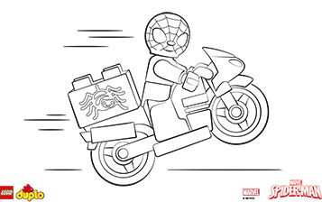 Lego Duplo Spider Man Coloring Page Lego Coloring Pages