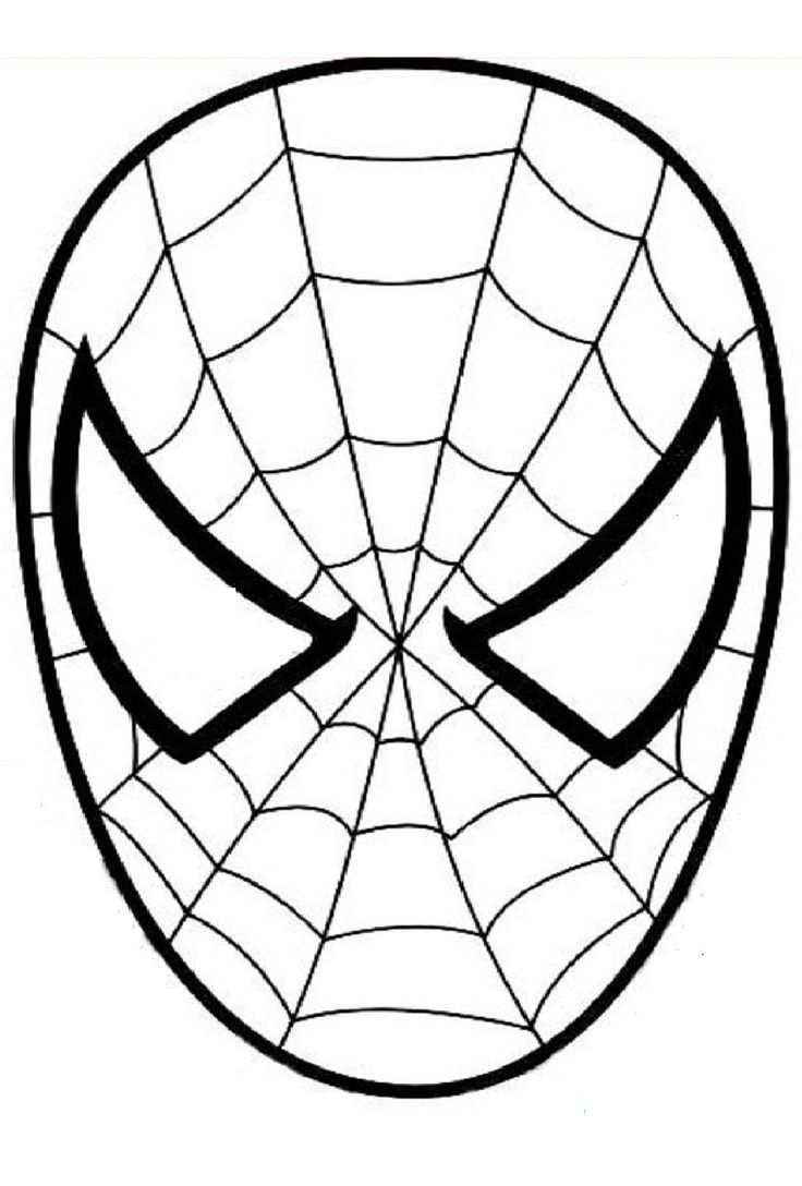 Masque Spiderman A Colorier Decoupage A Imprimer Isabelle Taupin