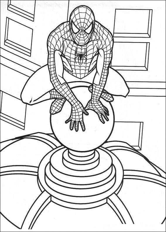 Coloring Page Spiderman Spiderman Spiderman Coloring Spider