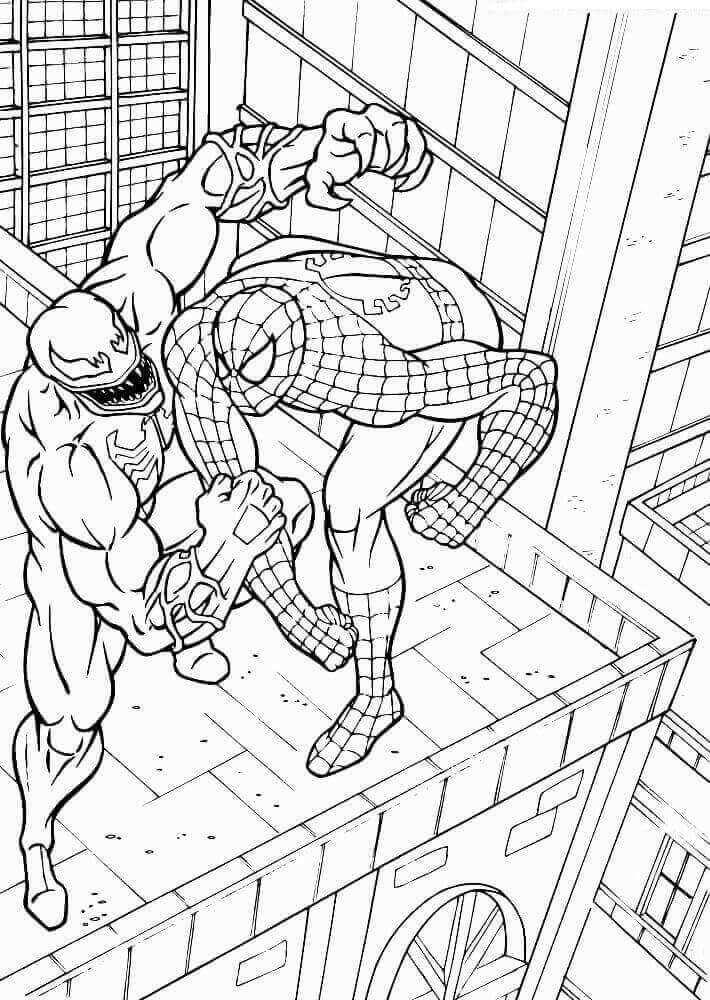 15 Free Printable Venom Coloring Pages Spiderman Coloring