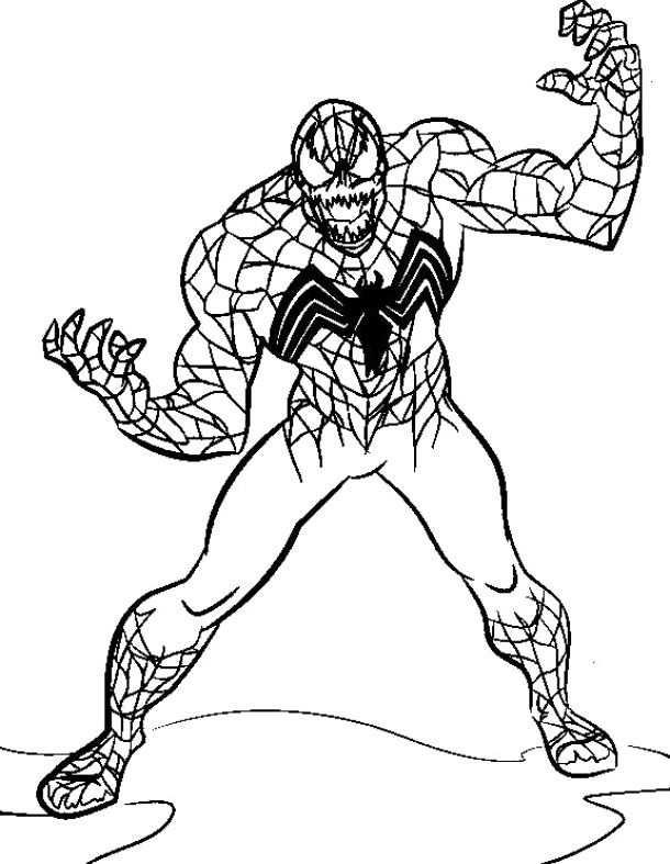 The Evil Venom Spiderman Coloring Pages Spiderman Cartoon