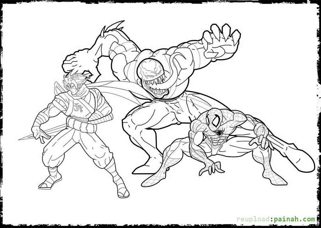 Spiderman Vs Venom Spiderman Coloring Avengers Coloring Pages