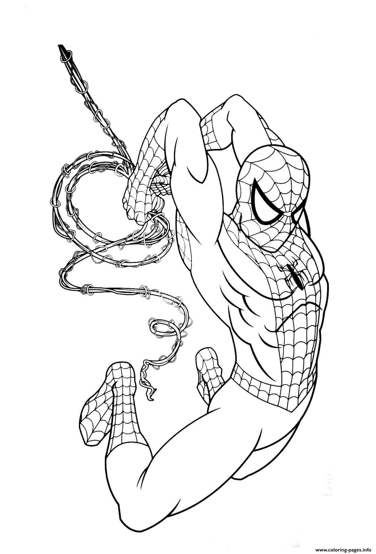 Print Avengers Endgame Spiderman Coloring Pages Kleurplaten