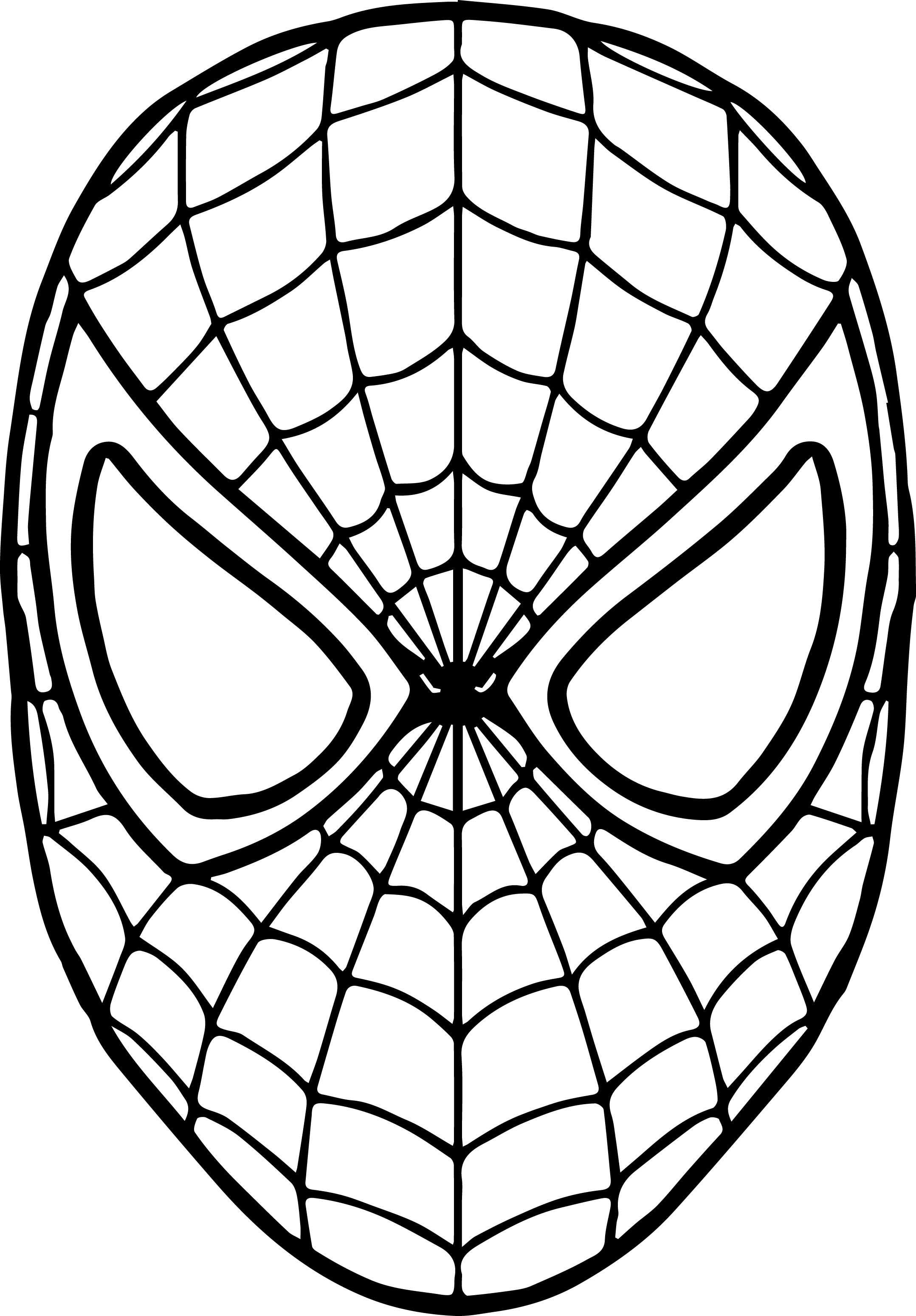 Spiderman Coloring Pages In 2020 Kleurplaten Spiderman Carnaval