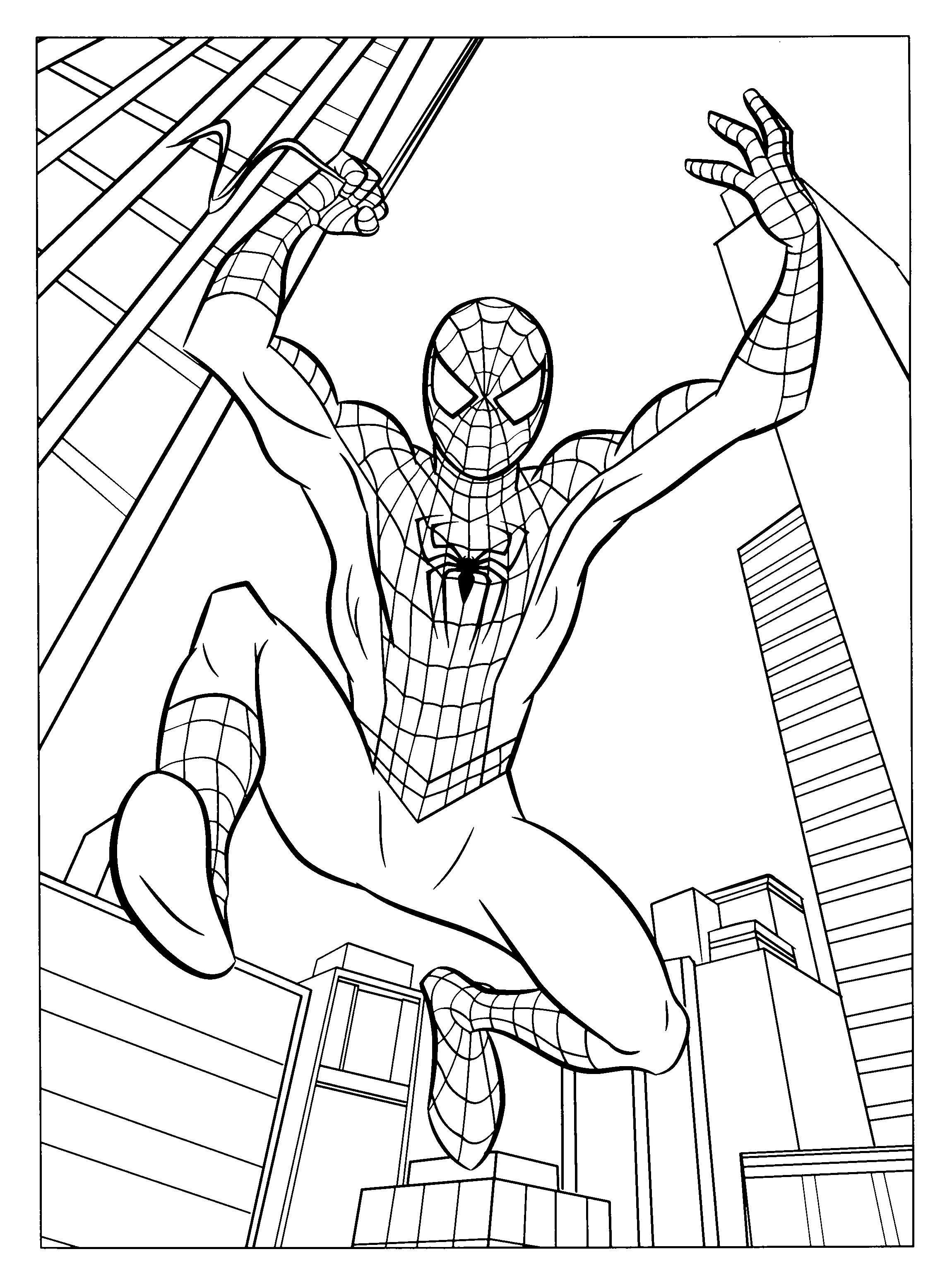 Free Printable Spiderman Coloring Pages For Kids Kleurplaten