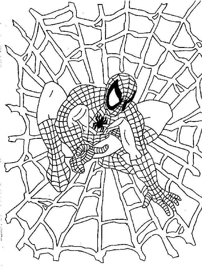 Spider Man Kleurplaat Kleurplaten Gratis Kleurplaten Kerstmis