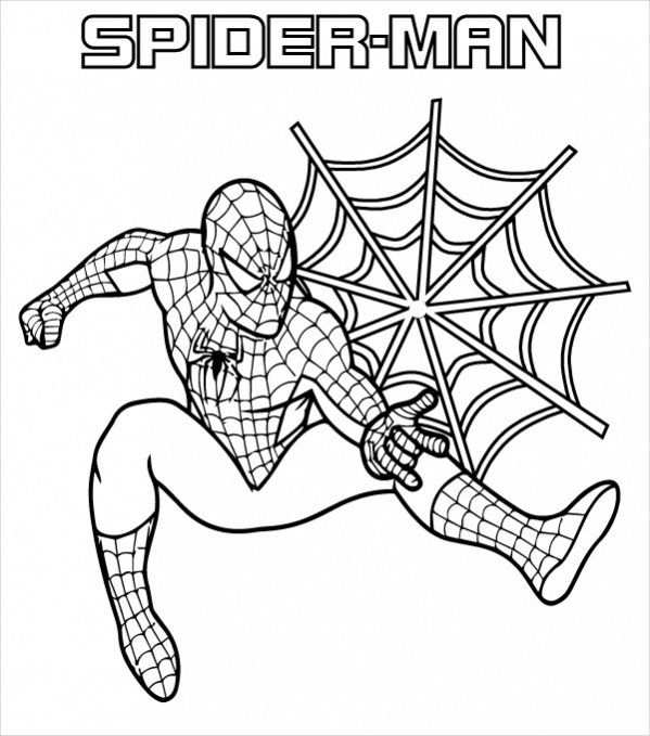 Spiderman Coloring Pages Pdf In 2020 Met Afbeeldingen