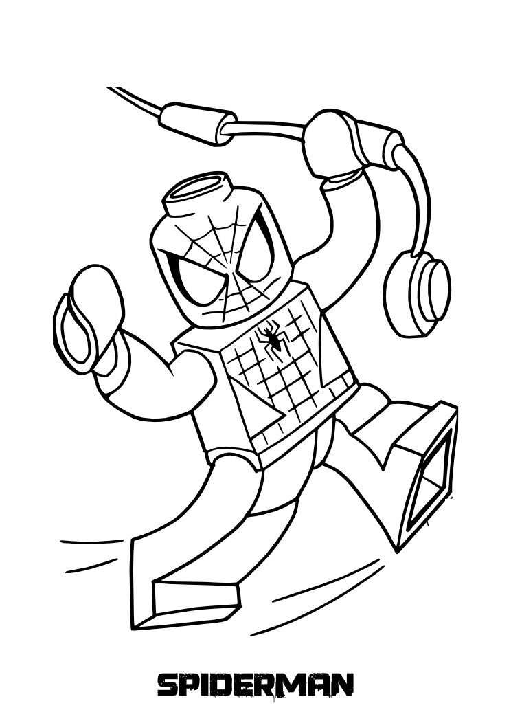 Spiderman Lego Coloring Sheets For Free Met Afbeeldingen Lego