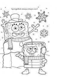 Spongebob Winter Kleurplaat Spongebob Christmas Spongebob