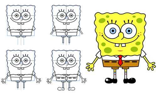 How To Draw Spongebob Leer Tekenen Tekenen Kleurplaten