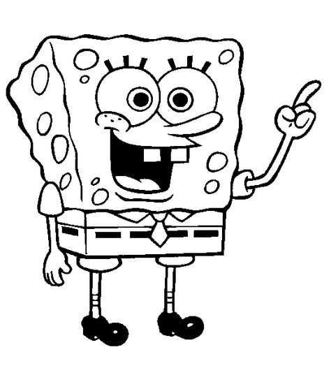 Kleurplaat Spongebob Met Afbeeldingen Kleurplaten Kleurboek