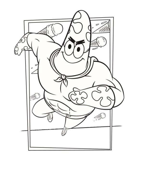 Patrick In De Nieuwe Spons Op Het Droge Film Spongebob Coloring