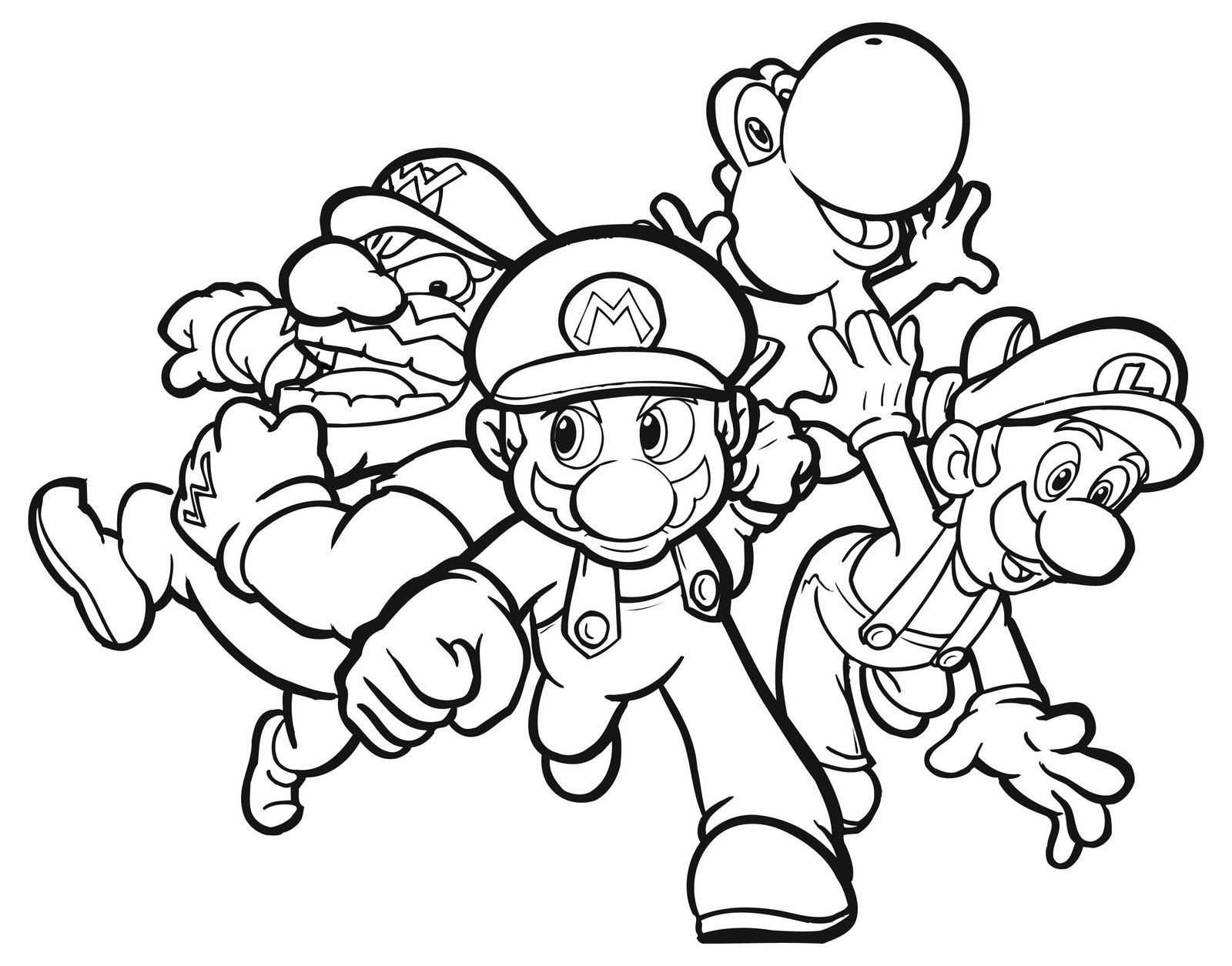 Free Printable Mario Coloring Pages For Kids With Images Super
