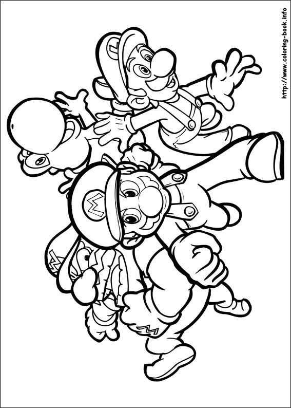 Super Mario Bros Coloring Picture Met Afbeeldingen