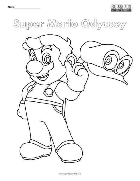 Super Mario Odyssey Nintendo Coloring With Images Super Mario