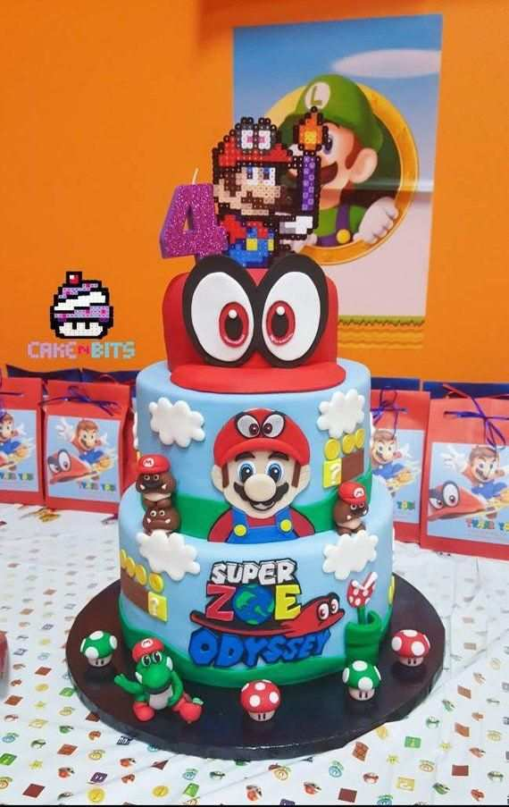 Kleurplaat Super Mario Odyssey Cappy