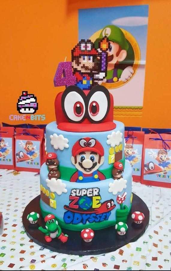 Handmade Fondant Inspired By The Super Mario Odyssey Game Birthday