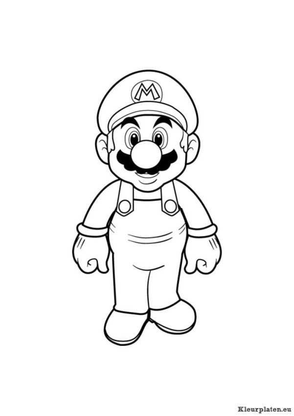 Super Mario Bros Kleurplaat 94533 Kleurplaat Met Afbeeldingen
