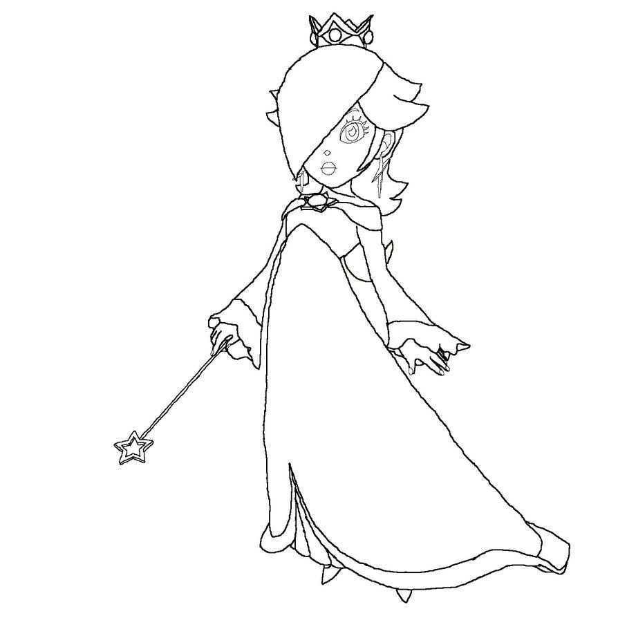 Super Mario Princess Mushroom Coloring Page With Images Super