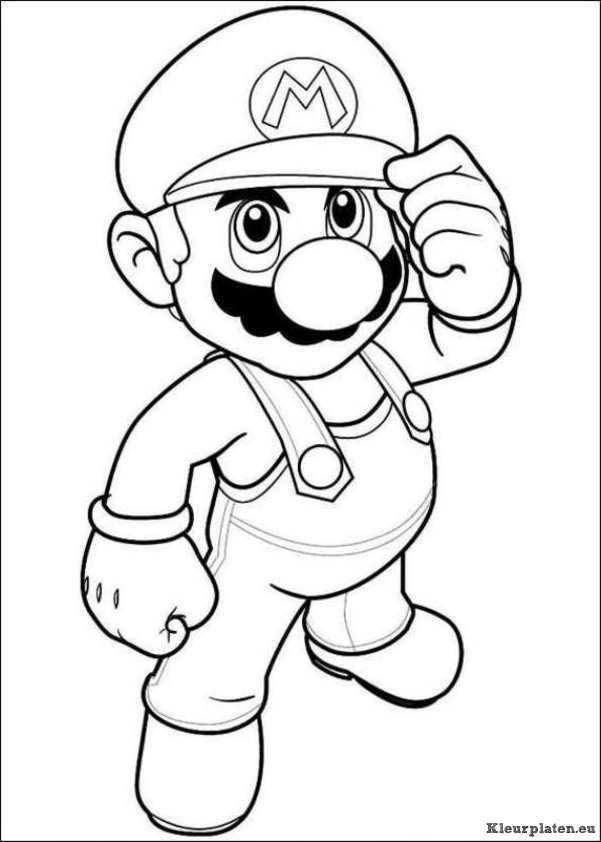 Super Mario Bros Kleurplaat 43900 Kleurplaat Kleurplaten Disney