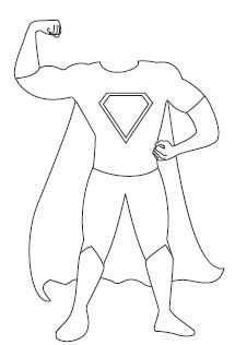 Kleurplaat Superheld Superhelden Vaderdag Vaderdag Knutselen
