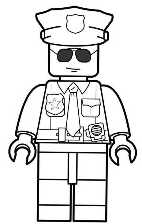 Lego Police Coloring Pages Met Afbeeldingen Lego Kleurplaten