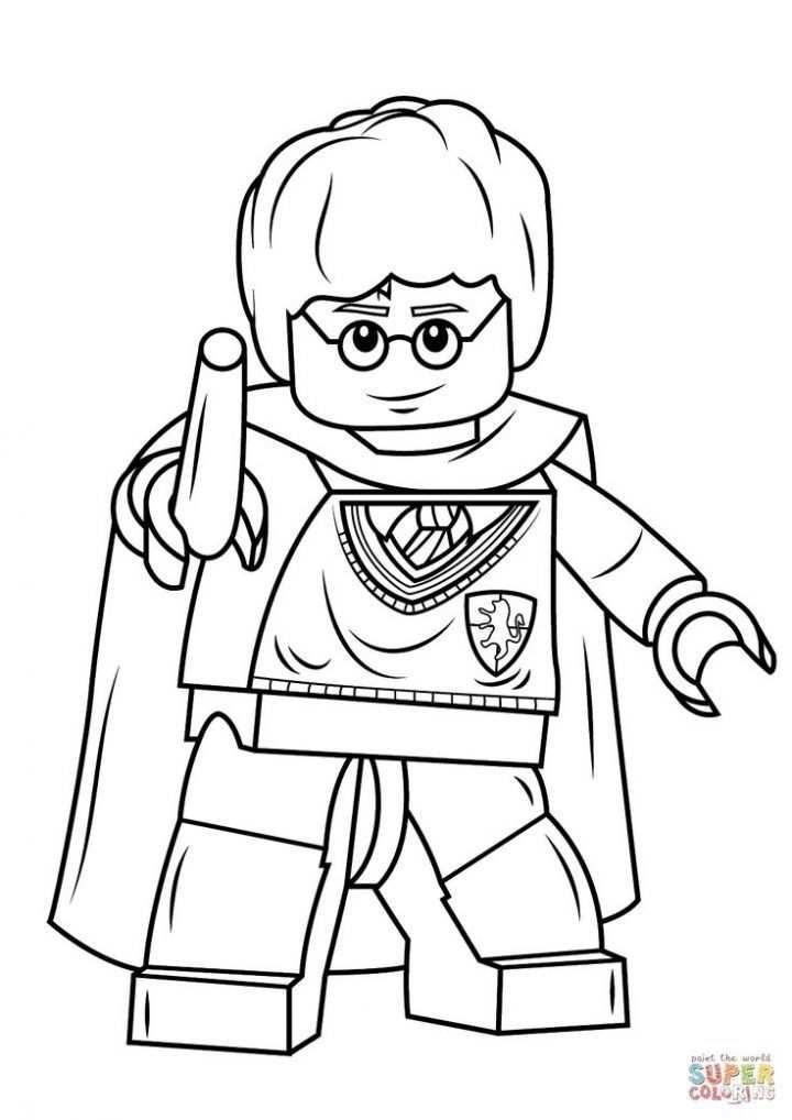 Lego Harry Potter Met Wand Kleurplaat Lego Kleurplaten