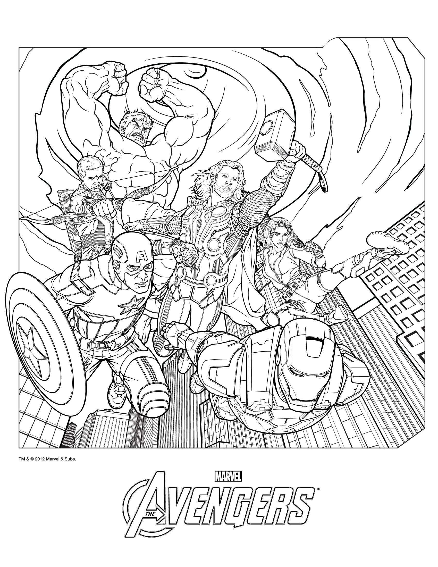 Avengers Kleurplaten Kleurboek Avengers
