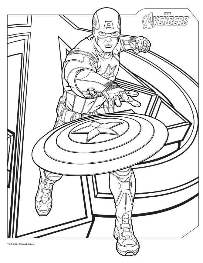 Download Avengers Coloring Pages Here Captainamerica