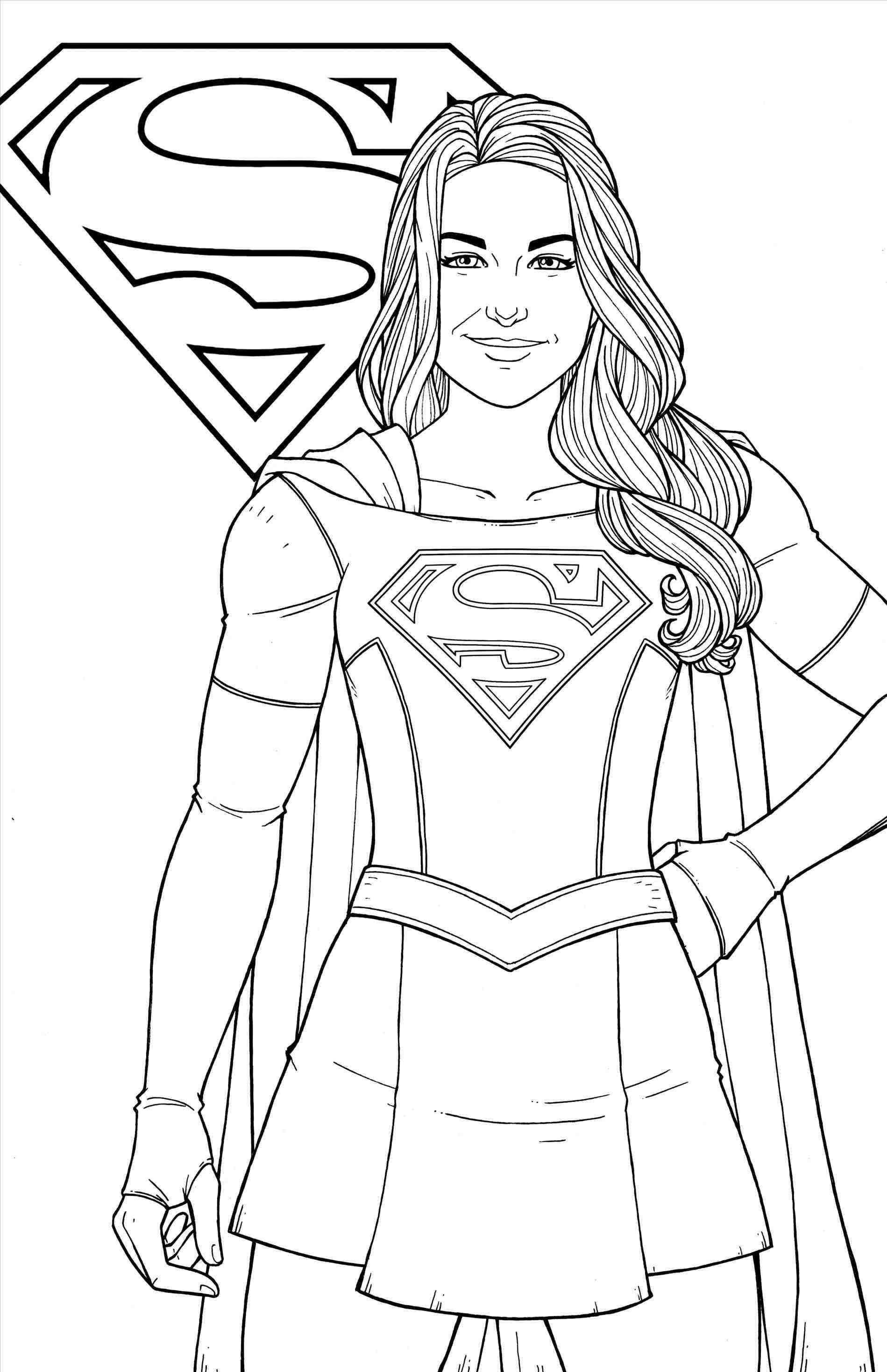Free Printable Supergirl Coloring Pages Logo And Wonder Woman Pdf