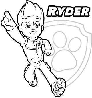 Paw Patrol Ryder 1 Met Afbeeldingen Kleurplaten Lettertype