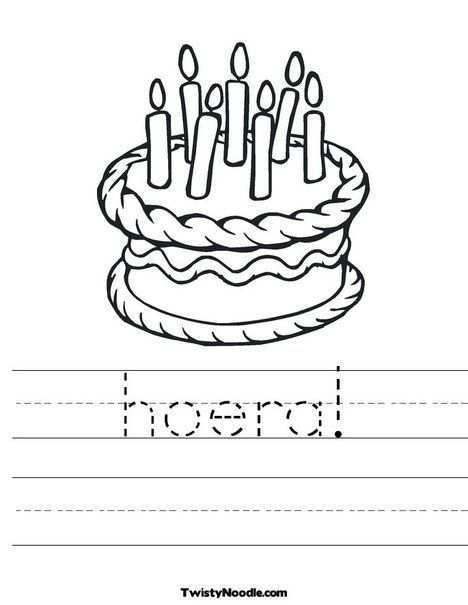 kleurplaat taart 7 jaar