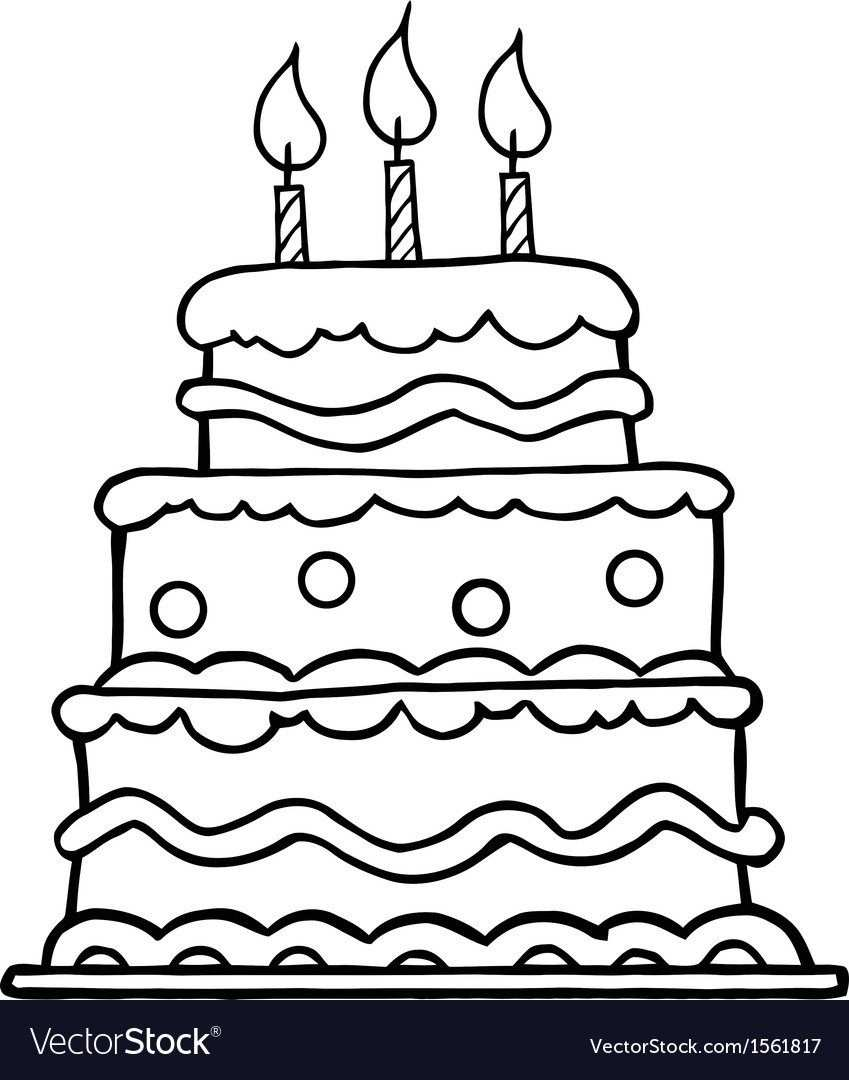 20 Creative Picture Of Birthday Cake Cartoon Kleurplaten