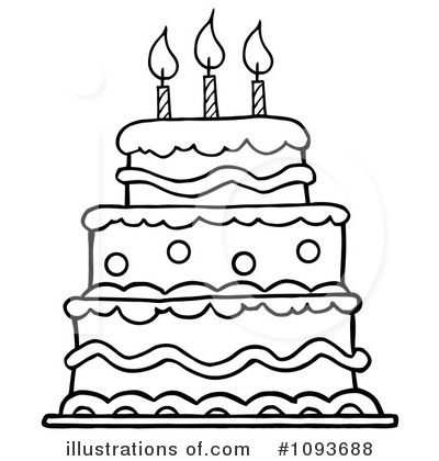 Birthday Cake Clip Art Black And White Pictures Images And Met
