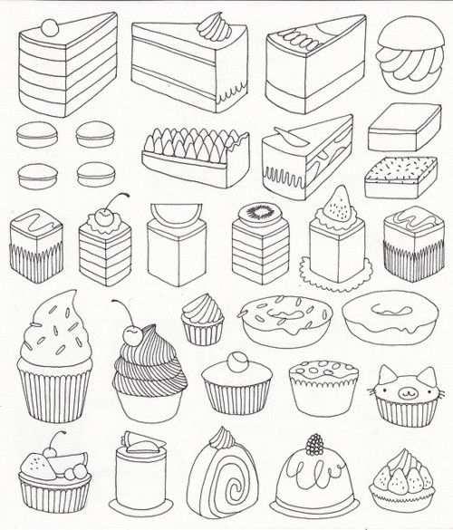 Lekkere Taartjes Kleurplaten Doodle Ideeen Kleurboek